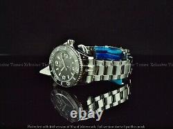 Tresod Men Super luminova Ocean Master AUTO Black Dial Sapphire Crystal SS Watch