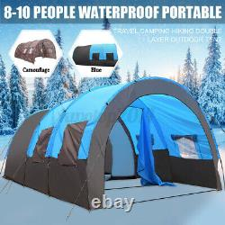 US 8-10 Person Super Big Camping Tent Waterproof Outdoor Hiking Family Traveling