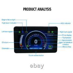 Universal 12V Motorcycle Full LCD Display Instrument Speedometer Odometer
