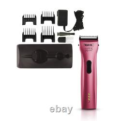 Wahl SUPER GROOM PINK Animal Cordless Clipper Pet / Horse / Dog Grooming Kit