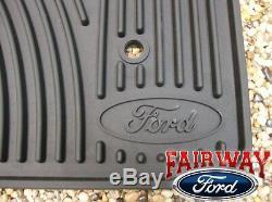 06 07 08 09 10 Super Duty F250 F350 Oem Ford Caoutchouc Tapis De Sol 3-pc Crew Cab
