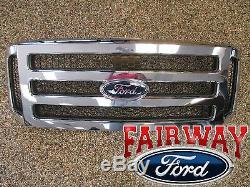 06 07 Ford Super Chrome Original Avec Grille Noire Fusil F250 F350 F450 F550 Oem