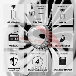 1000w Amplificateur Bluetooth Stéréo Moto 4 Haut-parleurs Radio Système Audio Harley