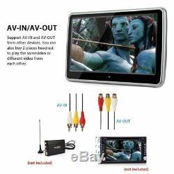 10.1 Voiture Écran LCD Hd Tactile Auto Lecteur DVD Moniteur Appuie-tête Usb / Sd / Ir / Fm / Jeu