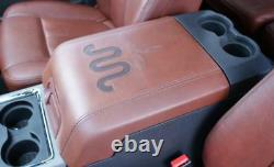 11-15 Ford F250 Super Duty King Ranch Red Adobe Center Console Arm Rest LID Oem