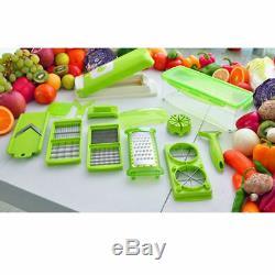 12 Trancheur Super Légumes Plus Éplucheur De Fruits Légumes Coupeur Dicer Hachoir Nicer Râpe