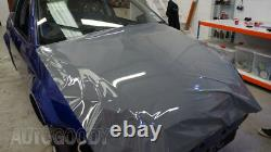 12 X 60 Super Gloss Glossy Nardo Gray Enveloppe De Film De Vinyle Air Bubble Free 1ftx5ft