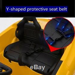 12v Enfants Ride On Super Sports Car Toy Électrique Batterie Télécommande Mp3 Jaune