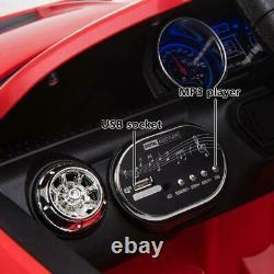 12v Luxury Kids Ride Sur Super Sports Car Batterie Électrique Télécommande Rouge
