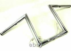 14 16 1 1/4 Z Barres De Singes Hangers Knurled Poignées Perforées Harley Bobber Custom