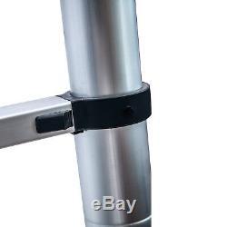 16.5ft Aluminium Multi-usage Extention Échelle Pliante Télescopique Une Forme De Cadre