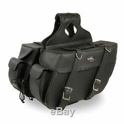 16 W Motos Saddlebags Avec Etanche Poches Latérales Pour Harley Dsa21
