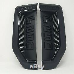 17-20 Super Duty F-250 Lariat Paquet Sport Noir Fender Emblèmes Paire De 2