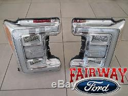 17 À 19 Super Duty F-250 F-350 Oem Ford Led Tête Lampes De Lh & Rh Pair