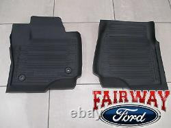 17 À Travers 21 Super Duty Oem Ford Tray Style Molded Floor Mat Set 3pc Extended/crew