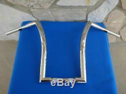 18 Chrome Dna Monstre Fat Ape Hanger Bars 1-1 / 2 Harley Guidons
