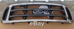 1999-2004 Ford F-250 F-350 Super Duty Platinum Chrome Et Avec Emblème Nouveau Calandre Oem