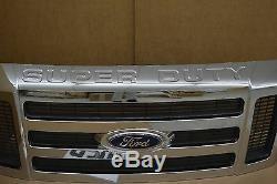 2008-2010 Ford Super Duty Radiateur Chrome Grille Avant Nouvelle Oem 8c3z-8200-ba