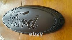2011-2016 Ford F250 F350 Grill Super Duty 13 Matte/gloss Black Emblem