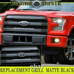 2015 2016 2017 Ford F150 F-150 Matte Black Grille Grill Oe King Ranch Style