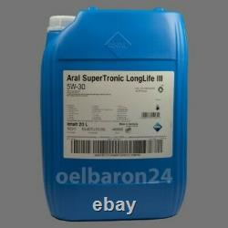 20 Litre Kanister Aral Supertronic Longlife III 5w-30 Vw 507.00 504.00 Mo 229.51
