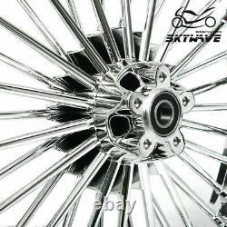 21 18 Roues Arrière Avant Cast Wheels Dual Disc Fat Spokes Softail Road King Sportster