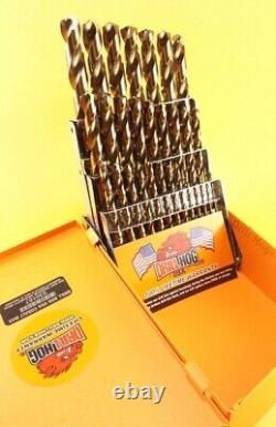 29 Pc Super Premium Cobalt M42 Ensemble Bit De Forage Orange À Vie Garantie Hog De Forage