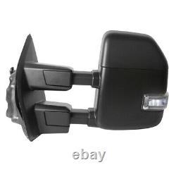 2 Miroirs De Remorquage De Signal Led Chauffés De Puissance Avec Capteur De Température Pour 17-20 Ford F250 F350