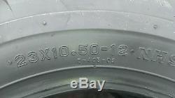 2 Pneus 23x10.50-12 Deestone D405 4p Super Lug Ag Ds5245 23x10.5-12