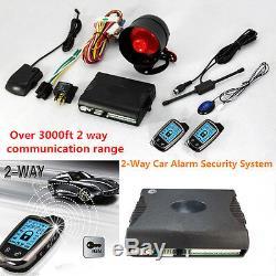 2 Voies Alarme De Voiture Système De Sécurité Avec 2 Pièces Super LCD Interurbaine Kit Controleurs