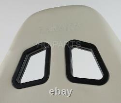 2 X Tanaka Beige Pvc Sièges De Course En Cuir Double Inclinateur + Sliders S'adapte Vw