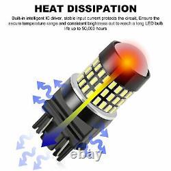 2x 3157 3156 Super Bright 78smd Led Reverse Backup Ampoules 6000k Xénon Blanc