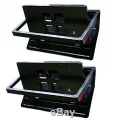 2x Flipper Plaque D'immatriculation Cadre USA Voiture Nombre Swap Maj Turn Stores Avec Télécommande