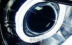 3.0 Objectif Projecteur Bi-xénon H1 Avec Des Linceuls Carrés D'anneau De Halo De Led Pour Des Phares