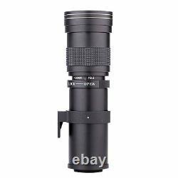 420-800mm F/8.3 16 Super Telephoto Zoom Camera Lens Pour Nikon Canon +t Mount