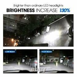4x 9005+h11 160w Led Combo Headlight Bulb High Low Beam Kit 6000k Super White