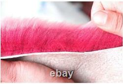 5pcs Furry Véritable Australian Sheepskin Four Housses De Siège De Voiture Accessoires D'intérieur