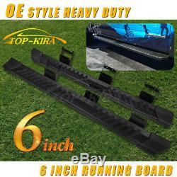 6 Pour 2015-2020 Ford F150 Super Board Crew Cab Courir Nerf Bar Side Step V Blk