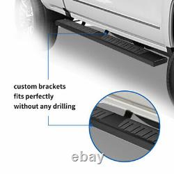 6 Pour 2015-2021 Ford F150 Super Crew Cab Running Board Side Step Nerf Bar Noir