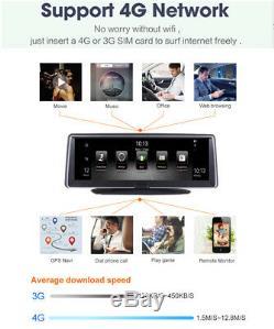 7,84 Tactile 4g Adas Android 5.1 Enregistreur De Caméra De Voiture Gps Nav Wifi Bluetooth Dvr