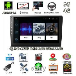 9 2din Android 8.1 Quad-core Ram 2gb Rom 32gb Radio Stéréo De Voiture Gps Wifi 3g4g Bt