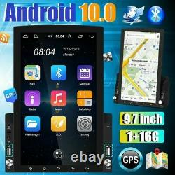 9.7 Inch Vertical Car Stereo Radio Android 10 2din Fm Écran Tactile Gps Bluetooth