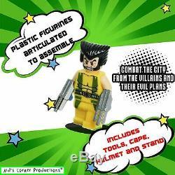 9 X Marvel Avengers Lego Super Heroes Mini Chiffres Superman Fer Hulk Minifigure