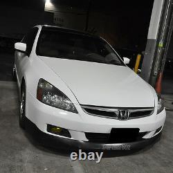 Ajustement Pour 06-07 Honda Accord Coupé Hfp Style Pu Avant Pare-chocs Lip