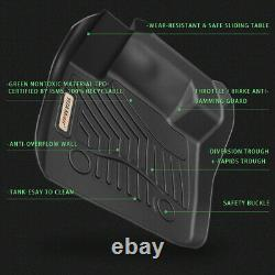 All Weather Floor Mats Liners Pour 17-21 Ford F-250 F350 F450 Super Duty Crew Cab