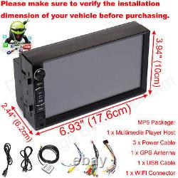 Android Car Stereo Radio Mp5 Usb Aux Fm Hd Bluetooth Gps Navi Touchscreen Player