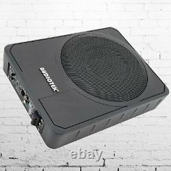 Audiotek 800w 10 Car Sous Sat Powered Sous-soupier Super Slim Actif Sub
