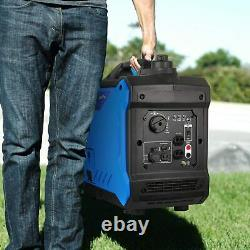 Bilt Hard Générateur D'onduleur Portable Super Silencieux 2000 Watt Rv Prêt Gaz Alimenté