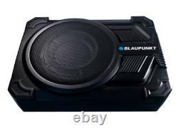 Blaupunkt Gths131 10 Super Slim Amplified Subwoofer + Sous Le Siège + Télécommande