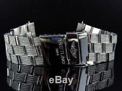 Brand New Mens Breitling Super Avenger À Diamants Avec 7 Ch_lire Personnalisé